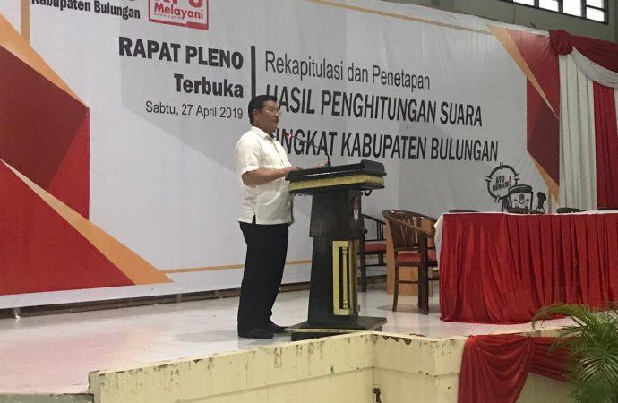 Bulungan Lakukan Rekapitulsi Hasil Pemilu 2019 Tingkat Kabupaten