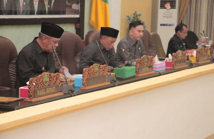 Bupati Beri Jawaban Atas Pandangan Umum Fraksi DPRD