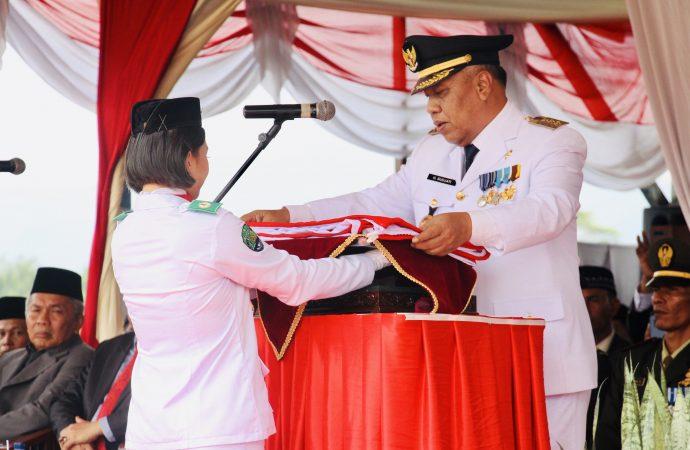 Bupati Pimpin Upacara Peringatan Detik-detik Proklamasi di Tanjung Palas Utara