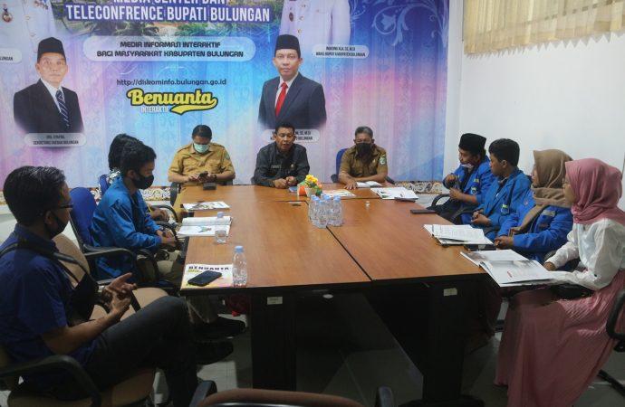 Diskominfo, Media dan PMII Saling Diskusi