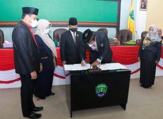Pemkab dan DPRD Tandatangani Kesepakatan Rancangan Awal RPJMD 2021-2026